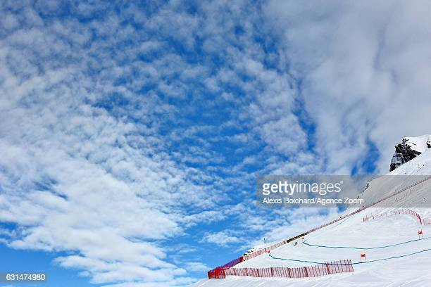 Andreas Romar of Finland competes during the Audi FIS Alpine Ski World Cup Men's Downhill Training on January 11 2017 in Wengen Switzerland