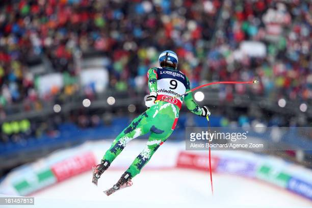 Andreas Romar of Finland competes during the Audi FIS Alpine Ski World Championships Men's Super Combined on February 11 2013 in Schladming Austria
