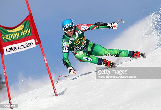 Andreas Romar of Finland during the Audi FIS Alpine Ski World Cup Men's SuperG on November 25 2012 in Lake Louise Canada