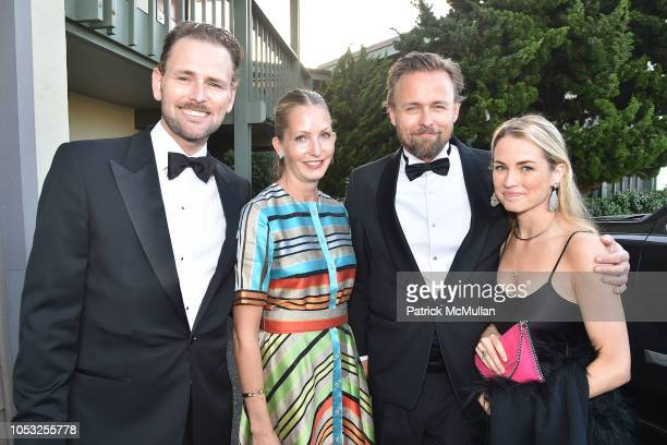 Andreas Ronning Anne Britt Ronning Joachim Ronning and Amanda Hearst attend Hearst Castle Preservation Foundation Hollywood Royalty Dinner at Hearst...