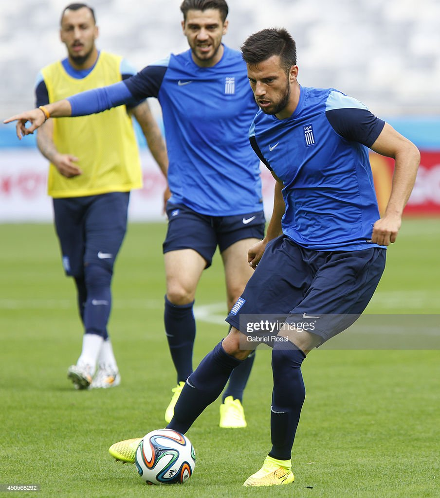 Greece Training Session - 2014 FIFA World Cup Brazil