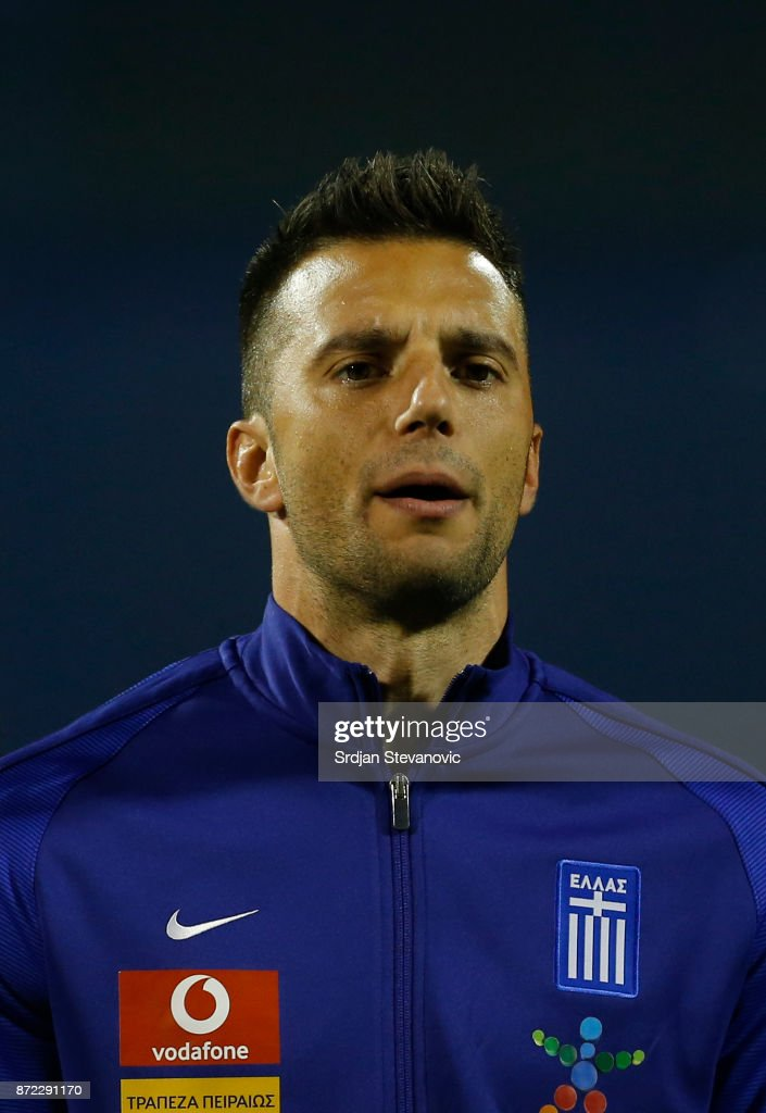 Andreas Samaris of Greece looks on prior the FIFA 2018 World Cup Qualifier Play-Off: First Leg between Croatia and Greece at Stadion Maksimir on November 9, 2017 in Zagreb, Croatia