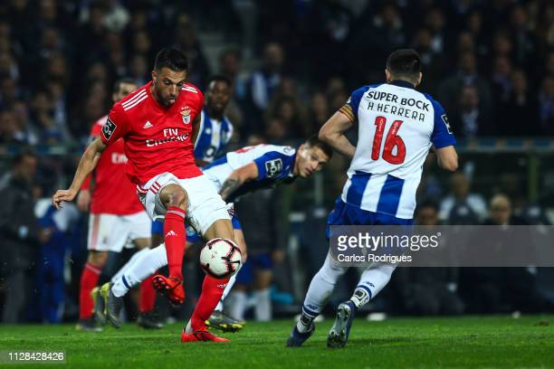 Andreas Samaris of SL Benfica during the Liga NOS match between FC Porto and SL Benfica at Estadio do Dragao on March 2 2019 in Porto Portugal