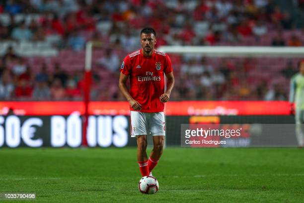 Andreas Samaris of SL Benfica during the Portuguese League Cup match between SL Benfica and Rio Ave FC at Estadio da Luz on September 15 2018 in...
