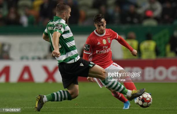Andreas Samaris of SL Benfica in action during the Liga NOS match between Sporting CP and SL Benfica at Estadio Jose Alvalade on January 17 2020 in...
