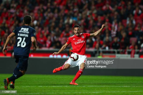 Andreas Samaris of SL Benfica in action during the Liga NOS match between SL Benfica and Belenenses at Estadio da Luz on March 11 2019 in Lisbon...