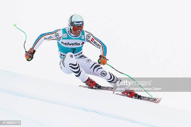 Andreas Sander of Germany competes during the Audi FIS Alpine Ski World Cup Finals Men's and Women's Downhill on March 16 2016 in St Moritz...