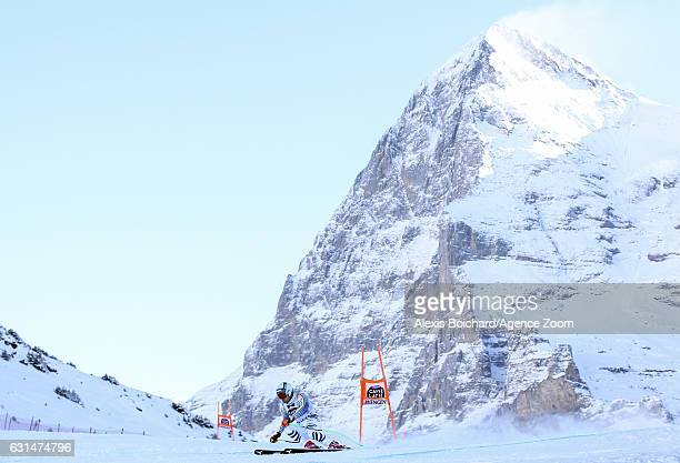Andreas Sander of Germany competes during the Audi FIS Alpine Ski World Cup Men's Downhill Training on January 11 2017 in Wengen Switzerland