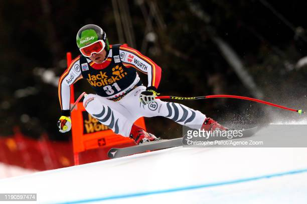 Andreas Sander of Germany in action during the Audi FIS Alpine Ski World Cup Men's Downhill on December 27, 2019 in Bormio Italy.