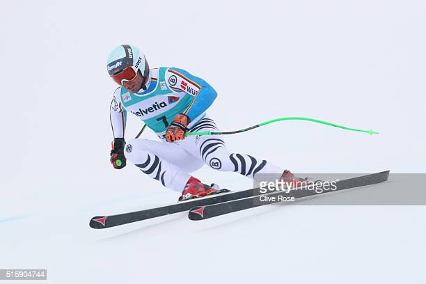 Andreas Sander of Germany in action during the Audi FIS Alpine Skiing World Cup Men's Downhill Race on March 16 2016 in St Moritz Switzerland