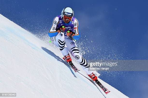 Andreas Sander of Germany in action during the the Audi FIS Alpine Ski World Cup Finals Men's and Women's Super G on March 17 2016 in St Moritz...