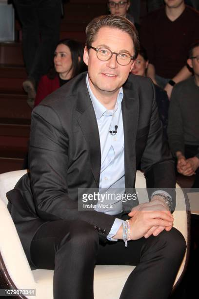 Andreas Scheuer during the 'Markus Lanz' TV show on January 9 2019 in Hamburg Germany
