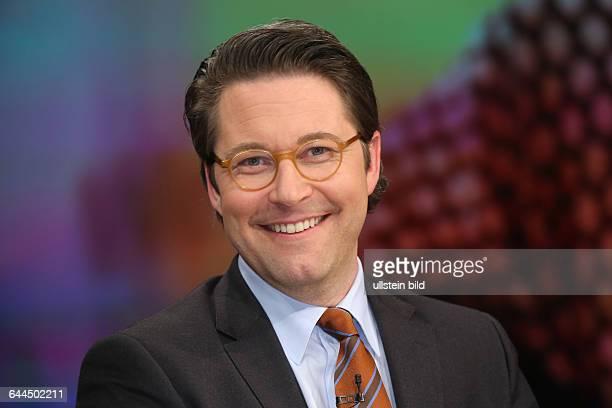 Andreas Scheuer in der ZDFTalkshow Maybrit_Illner am in BerlinThema der Sendung Fachkraft oder Flüchtling Wer darf ins Wirtschaftswunderland