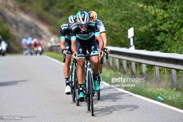 Andreas Schillinger of Germany and Team Bora Hansgrohe / Rudiger Selig of Germany and Team Bora Hansgrohe / Pascal Ackermann of Germany and Team Bora...