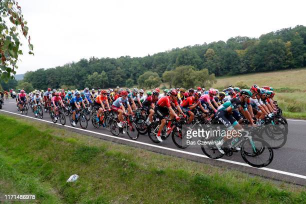 Andreas Schillinger of Germany and Team BoraHansgrohe / Cees Bol of The Netherlands and Team Sunweb / Geraint Thomas of United Kingdom and Team INEOS...
