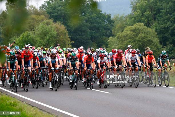 Andreas Schillinger of Germany and Team BoraHansgrohe / Geraint Thomas of United Kingdom and Team INEOS / Marcel Sieberg of Germany and Team Bahrain...