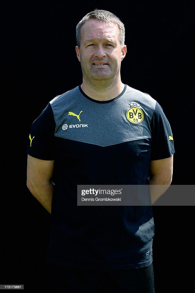 Andreas Schlumberger poses during the Borussia Dortmund Team Presentation at Brackel Training Ground on July 9, 2013 in Dortmund, Germany.