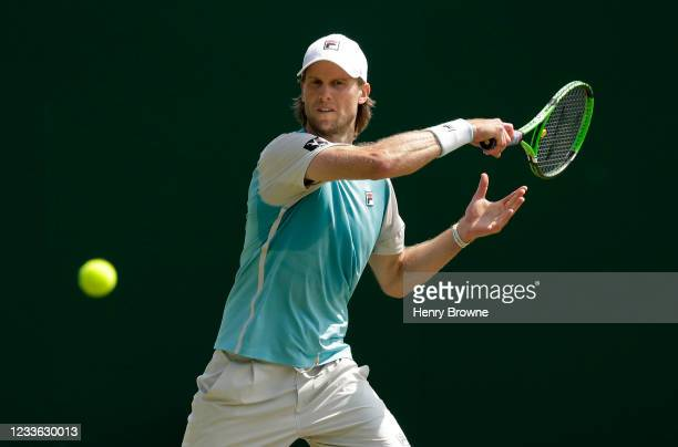 Andreas Seppi of Italy in action during his mens singles quarter final match against Max Purcell of Australia during day 6 of the Viking...