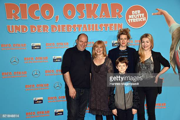 Andreas Steinhoefel Ursela Moon Juri Winkler Neele Leana Vollmar and Genija Rykova during the premiere for the film 'Rico Oskar und der...