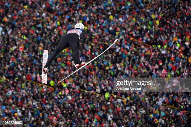 Andreas Stjernen of Norway competes on day 6 of the 67th FIS Nordic World Cup Four Hills Tournament ski jumping event on January 04 2019 in Innsbruck...