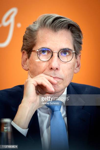Andreas Storm Chief Executive Officer of DAK Gesundheit is pictured during a press conference on April 16 2019 in Berlin Germany