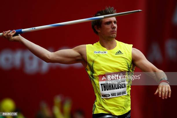 Andreas Thorkildsen of Norway competes in the Mens Javelin during the IAAF Golden League Track and Field meeting on July 17 2009 in Paris France