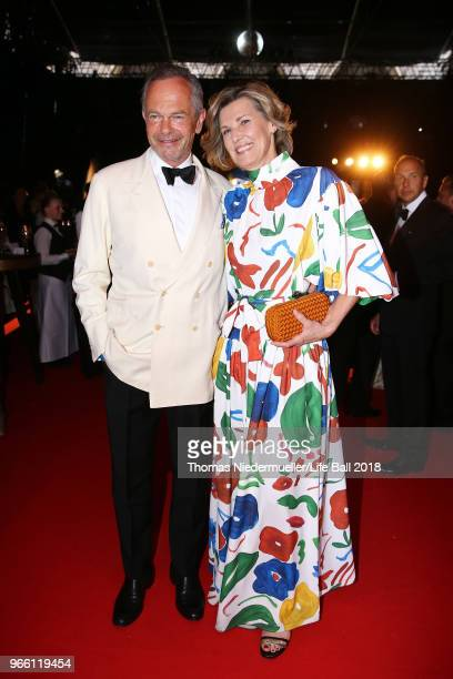 Andreas Treichl and Desiree TreichlStuergkh attend the LIFE Solidarity Gala prior to the Life Ball at City Hall on June 2 2018 in Vienna Austria The...