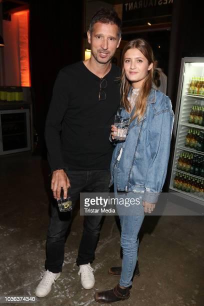 Andreas Tuerck and Lilli Schweiger attend the premiere of the film 'Klassentreffen 10 Die unglaubliche Reise der Silberruecken' at Cinemaxx on...