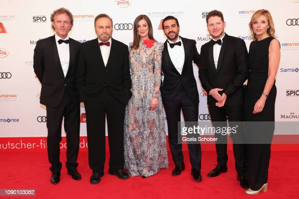 Andreas Ulmen Smeaton Franco Nero Alexandra Maria Lara Elyas M'Barek Marco Kreuzpaintner during the 46th German Film Ball at Hotel Bayerischer Hof on...