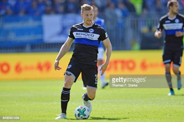 Andreas Voglsammer of Bielefeld runs with the ball during the Second Bundesliga match between SV Darmstadt 98 and DSC Arminia Bielefeld at...