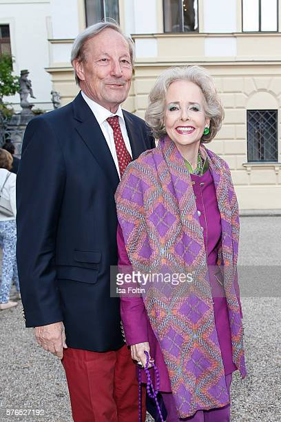 Andreas von Hardenberg and his wife Isa von Hardenberg attend the Thurn Taxis Castle Festival 2016 'Carmen' Opera Premiere on July 15 2016 in...