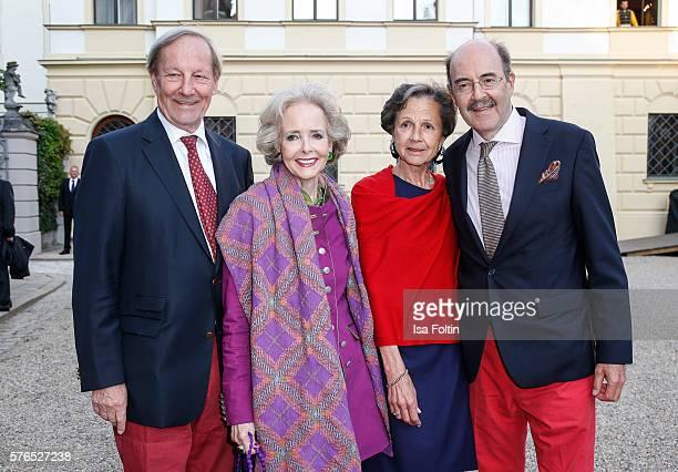 Andreas von Hardenberg and his wife Isa von Hardenberg Fritz von Thurn und Taxis and his wife Beatrix von Thurn und Taxis attend the Thurn Taxis...