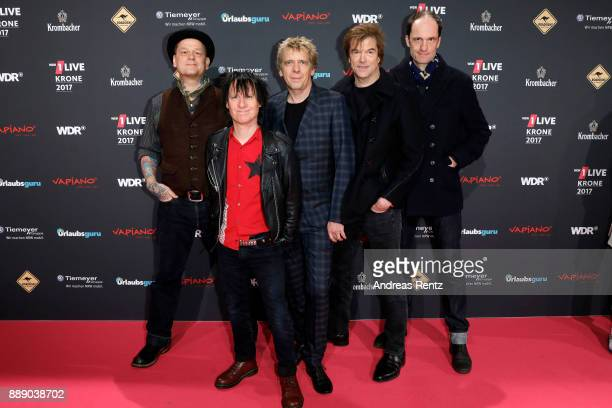 Andreas von Holst Stephen George Ritchie Andreas Meurer Campino and Michael Breitkopf of the band 'Die Toten Hosen' attend the 1Live Krone radio...