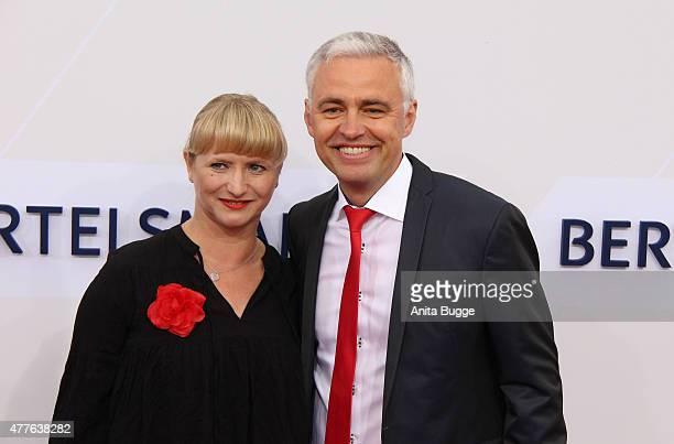 Andreas von Thien and Alexandra von Thien attend the Bertelsmann Summer Party 2015 at the Bertelsmann representative office on June 18 2015 in Berlin...