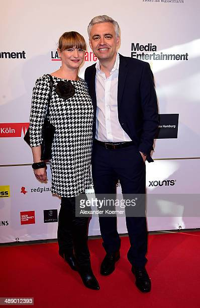 Andreas von Thien and his wife Alexandra von Thien attend the Media Entertainment Night at Hotel im Wasserturm on May 9 2014 in Cologne Germany