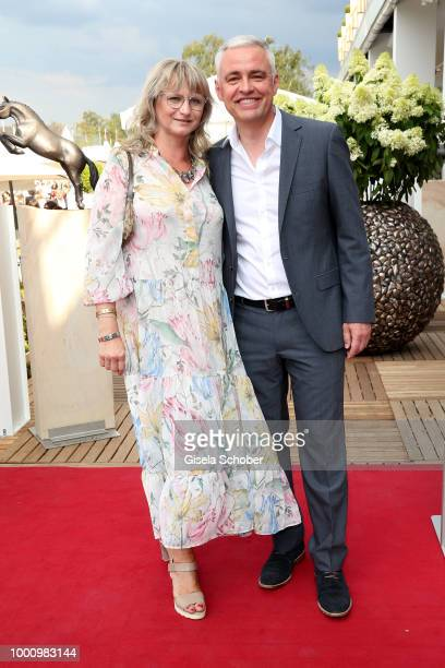 Andreas von Thien and his wife Alexandra von Thien during the media night of the CHIO 2018 on July 17 2018 in Aachen Germany