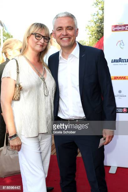 Andreas von Thien and his wife Alexandra von Thien during the media night of the CHIO 2017 on July 18 2017 in Aachen Germany