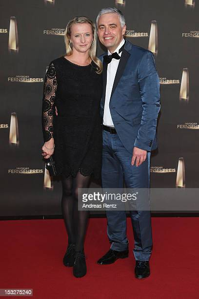 Andreas von Thien and wife Alexandra von Thien arrive for the German TV Award 2012 at Coloneum on October 2 2012 in Cologne Germany