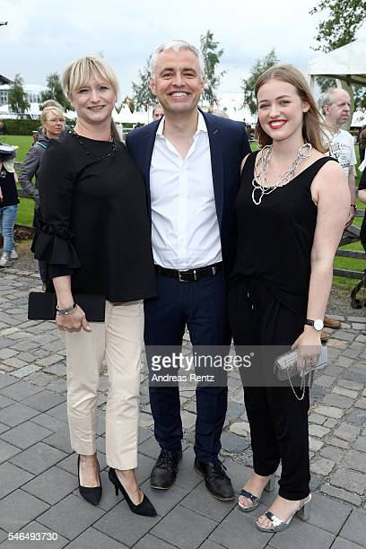 Andreas von Thien his wife Alexandra von Thien and their daughter Patricia attend the media night of the CHIO 2016 on July 12 2016 in Aachen Germany