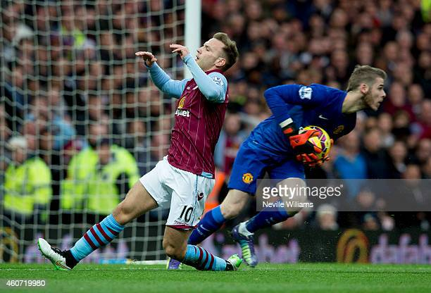 Andreas Weimann of Aston Villa during the Barclays Premier League match between Aston Villa and Manchester United at Villa Park on December 20 2014...