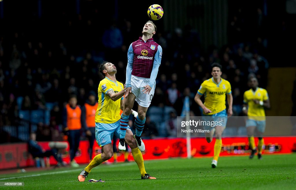 Andreas Weimann of Aston Villa during the Barclays Premier League match between Aston Villa and Crystal Palace at Villa Park on January 01, 2015 in Birmingham, England.