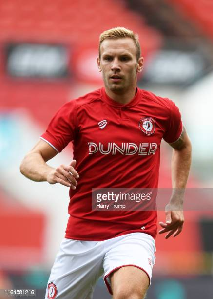 Andreas Weimann of Bristol City during the PreSeason Friendly match between Bristol City and Crystal Palace at Ashton Gate on July 27 2019 in Bristol...