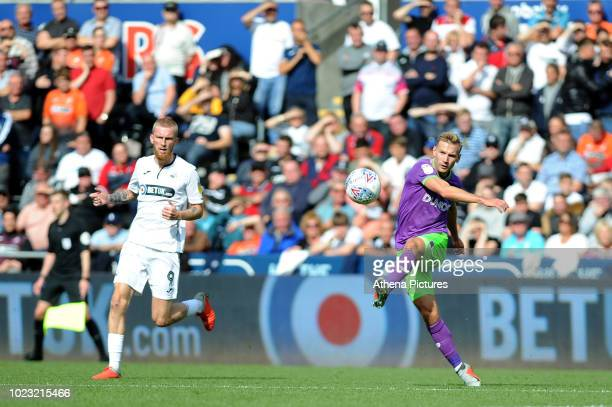 Andreas Weimann of Bristol City during the Sky Bet Championship match between Swansea City and Bristol City at the Liberty Stadium on August 25 2018...