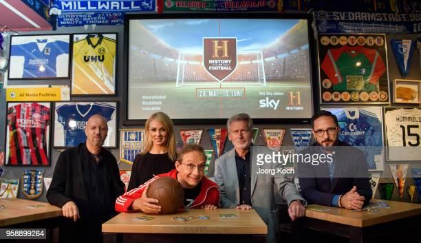 Andreas Weinek Managing Director History and AE Networks Germany Skyhost Britta Hofmann host Wigald Boning football legend Paul Breitner and Emanuel...