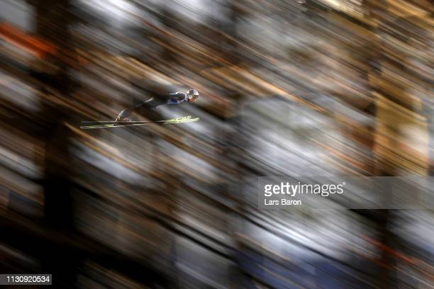 Andreas Wellinger of Germant during Ski Jumping training ahead of the Stora Enso FIS World Ski Championships on February 20 2019 in Innsbruck Austria