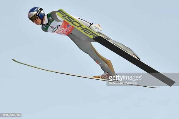 Andreas Wellinger of Germany competes during the practice round for the Four Hills Tournament on December 29 2018 in Oberstdorf Germany