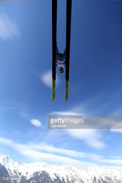 Andreas Wellinger of Germany during Ski Jump training ahead of the Stora Enso FIS Nordic World Ski Championships on February 21 2019 in Innsbruck...