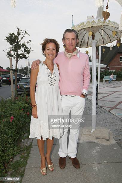 Andreas Will and wife Marlies Wrede at The Island Party Meets in Kampen In Local Pony On The Island of Sylt