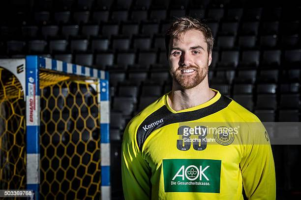Andreas Wolff poses during the handball national team of Germany presentation prior to the EURO 2016 in Poland on January 4 2016 in Hamburg Germany