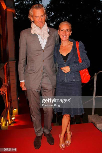 Andreas Wrede and Esther Haase attend the Nacht Der Medien at hotel suellberg on August 24 2012 in Hamburg Germany
